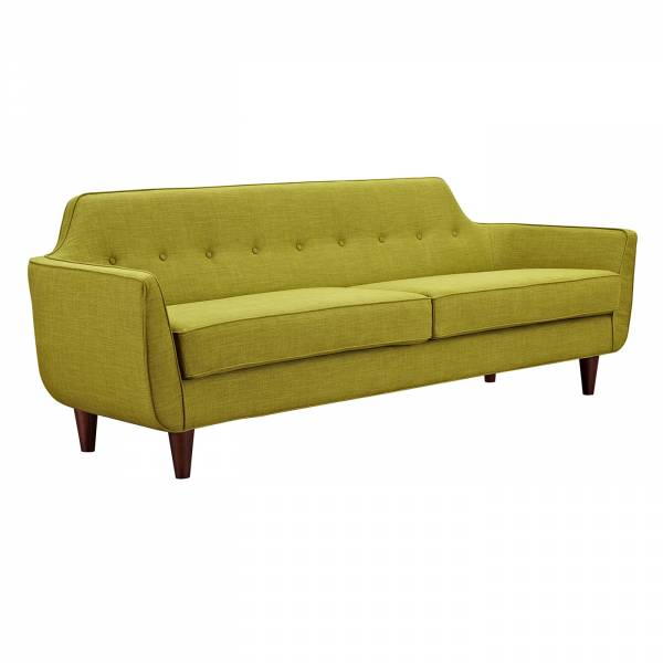 Agna Sofa – Green/Walnut | Rouse Home