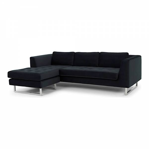 Janis Sectional Sofa – Left Shadow Gray | Rouse Home