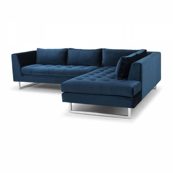 Janis Sectional Sofa – Right Midnight Blue | Rouse Home