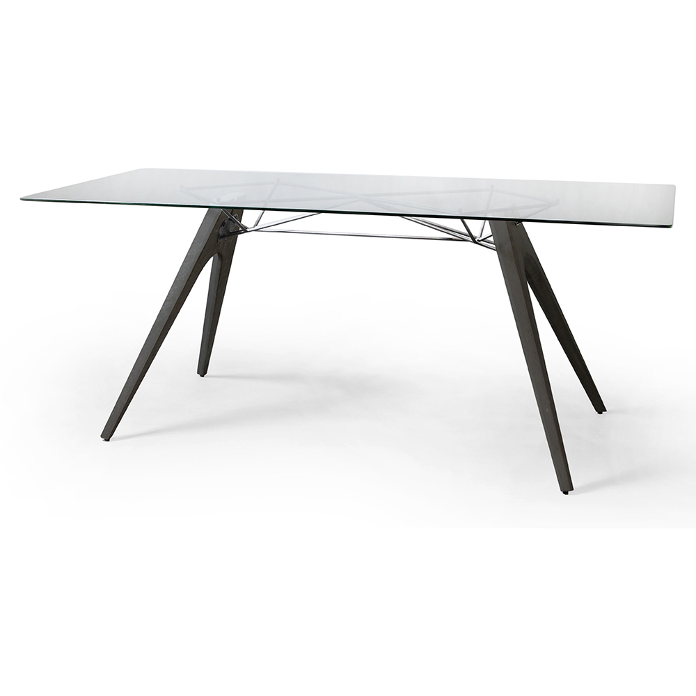 Kahn Dining Table – Glass Black | Rouse Home