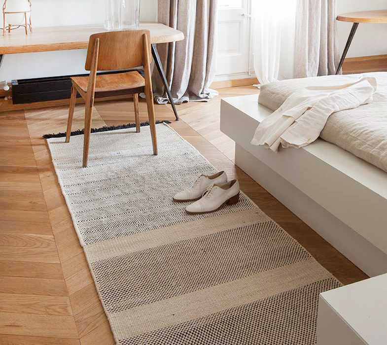 Nanimarquina Tres Hand Loomed Beige Runner Rugs | Rouse Home