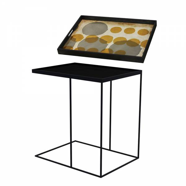 Tray Table Large – Sienna Layered Dots | Rouse Home