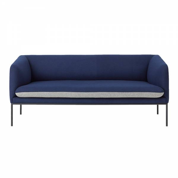 Turn 2 Seat Sofa – Blue and Light Gray Wool | Rouse Home