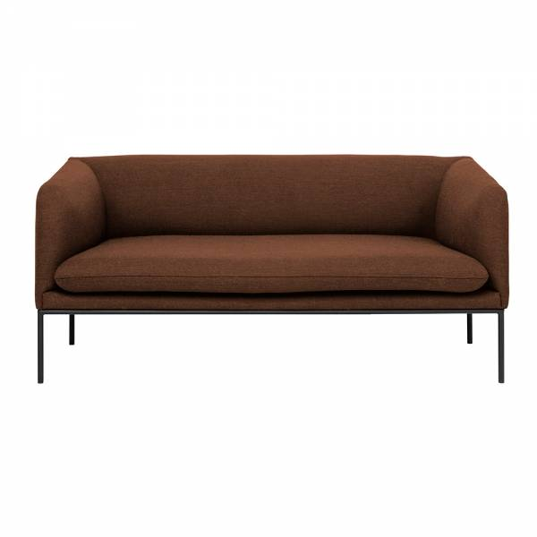 Turn 2 Seat Sofa – Solid Rust Wool | Rouse Home