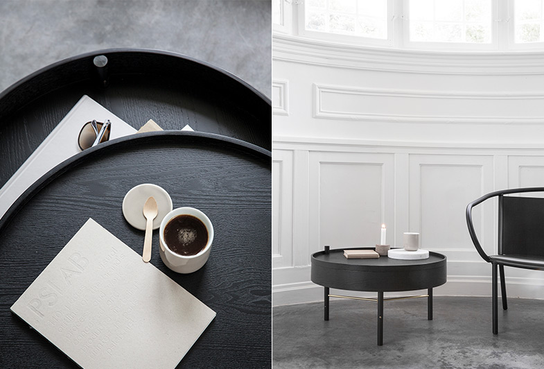 Black Round Coffee Table | Rouse Home