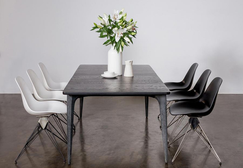 Industrial Black Dining Table | Rouse Home