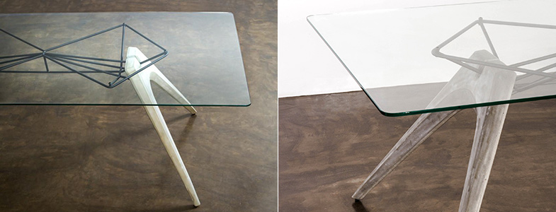 Industrial Glass Dining Table | Rouse Home