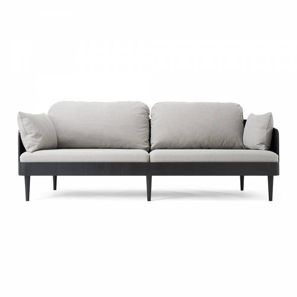 Septembre Sofa – Black Frame Gray Upholstery | Rouse Home